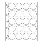 ENCAP-lommesystem til kapslede mønter - Indvendigt  format: 44 til 45 mm