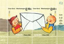 Monténégro - Europa 2008 - Bloc-feuillet neuf