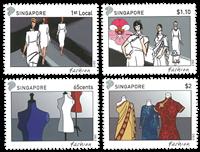 Singapore - Mode gezamenlijke uitg. met Frankrijk - Postfrisse set van 4