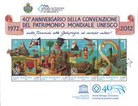 Saint Marin - Héritage culturel mondial - Bloc-feuillet neuf