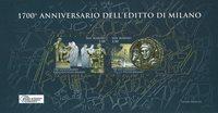 San Marino - 1700-års jubilæum - Stemplet miniark
