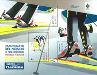 San Marino - VM i nordiske skidiscipliner - Postfrisk miniark