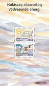 Groenland - Duurzame energie - Postfris souvenir velletje