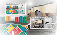 Grønland - Arkitektur II - Postfrisk miniark