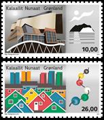 Grønland - Arkitektur II - Postfrisk sæt 2v