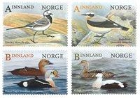 挪威邮票 2015年 鸟类Ⅱ 套票 4枚