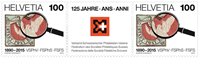 Schweiz - 125 år filatelistforbund - Postfrisk sæt 2v