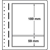 Lighthouse / Leuchtturm LB-Blank sheets, 190x189 mm, 190x59 - pack of 10