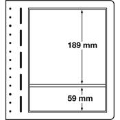 LEUCHTTURM feuilles neutres LB, 190x189 mm, 190x59  mm - paquet de 10