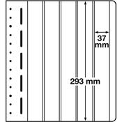 LEUCHTTURM feuilles neutres LB, 37 x 293 mm - paquet de 10