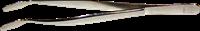 Pincette 42, de Luxe, 12 cm, modèle : angulaire, pelle