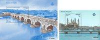 Spanien - Spaniens broer Burgos - Postfrisk sæt á 2 minark