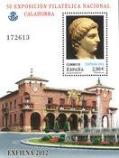 Spanien - Udstillingsminiark Calahorra - Postfrisk miniark