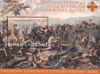 Vatican - 1700 years Battle Ponte - Mint souvenir sheet