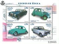 Spanien - Klassiske biler - Postfrisk miniark