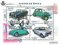 Spanien - Klassiske biler - Stemplet miniark