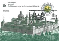 Espagne - Monastère royal à San Lorenzo - Bloc-feuillet obl.