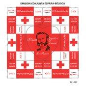Espagne - 150 ans Croix Rouge - Bloc-feuillet neuf