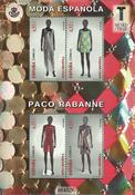 Espagne - Mode espagnole Paco Rabanne - Bloc-feuillet neuf