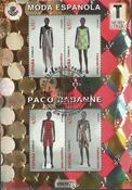 Espagne - Mode espagnole Paco Rabanne - Bloc-feuillet obl.