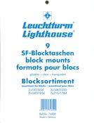 assortiment SF-Pochette pour Blocs, 9 formats différents, fond transparent