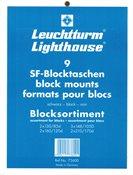 assortiment SF-Pochette pour Blocs, 9 formats différents, fond noir