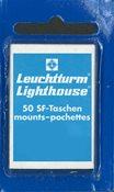 SF-klemstroken - 21,5 x 26 - zwart helder - blauweverpakking - 50 stuk