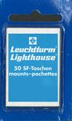 SF-klemstroken - 43 x 26 - zwart helder - blauwe verpakking - 50 stuk