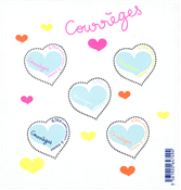 2016法国情人节时装品牌活希源心形邮票