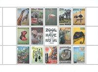 Danemark - Zoo, feuillet avec vignettes
