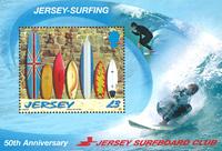 Jersey - Surfing - Postfrisk miniark