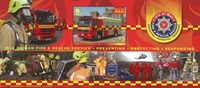 Isle of Man - FIRE AND RESCUE / FIRE TR *MS - Souvenir sheet