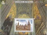 Spain - CATHEDRAL OF SEVILLA *MS - Souvenir sheet