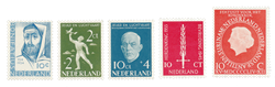 Holland 1954/55 - NVPH 646/48, 654, 660 - Postfrisk