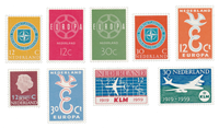 Holland 1958/59 - NVPH 712/14, 720/21, 727/30- Postfrisk