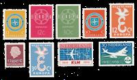 Nederland 1958/59 - Nr. 712/14, 720/21, 727/30 - Postfris