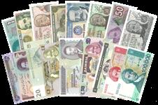 Pengesedler - Enestående samling