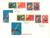 Albania 1962 - 2 different First Day Covers - Satellites