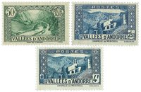 Andorra Fransk - 3 postfriske værdier
