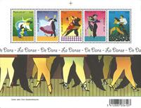 Belgique - Danses - Bloc-feuillet neuf