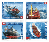 Schweiz - Flåden - Postfrisk sæt 4v