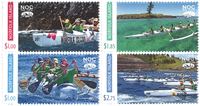 Norfolk Island - Sailing sport - Mint set 4v