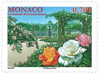Monaco - Roseraie Princesse Grace - Timbre neuf