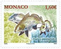Monaco - Truede arter - Fisk - Postfrisk frimærke