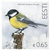 爱沙尼亚邮票 大山雀 新邮 外国邮票 邮票收藏