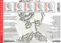 Belgien - Emile Verhaeren - Postfrisk ark