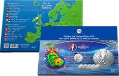 UEFA Euro 2016 - Bel album avec médailles - Version en anglais