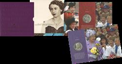England - Dronning Elizabeths kroningsjubilæum - Flot mønt mappe
