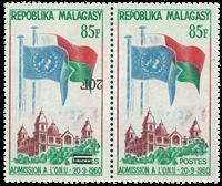 Madagascar - YT 447b se-tenant - Neuf sans ch.