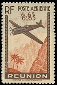 Reunion - YT luftpost 3b - Postfrisk
